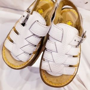 Dr. Martens Shoes - White Leather Dr Marten Baby Sandals